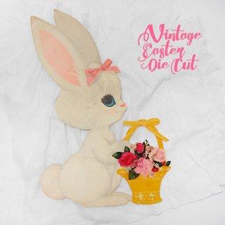 うさぎ ウサギ ラビット 雑貨 USA ウォールデコ アンティーク イースター 復活祭【33.5cm うさぎバスケット】