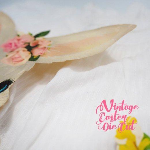 USA ウォールデコ アンティーク イースター 復活祭【23.5cm うさぎ花車】【画像4】