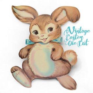 うさぎ ウサギ ラビット 雑貨 USA ウォールデコ アンティーク イースター 復活祭【41cm うさぎラビットリボン】