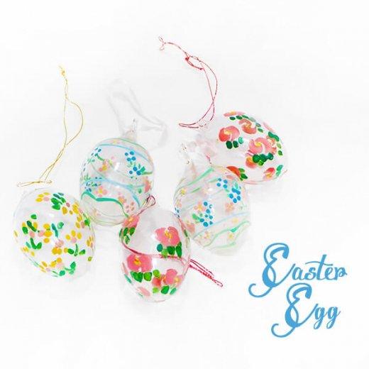 USA アンティーク イースターエッグ5個セット 復活祭【ハンドメイド ガラス】【画像2】
