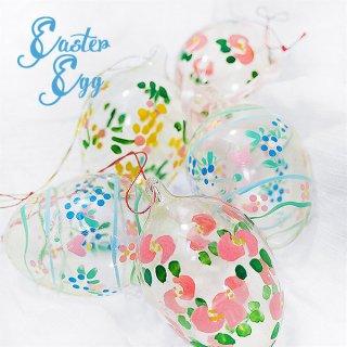 イースター 復活祭 雑貨 USA アンティーク イースターエッグ5個セット 復活祭【ハンドメイド ガラス】