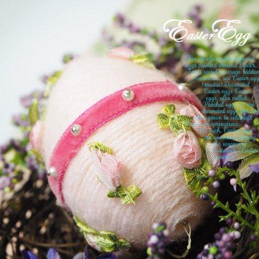 USA アンティーク イースターエッグ5個セット 復活祭【縦7cm ハンドメイド ピン装飾】【画像5】