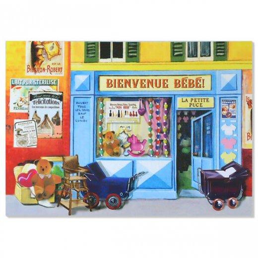 フランス ポストカード(BIENVENUE BEBE)