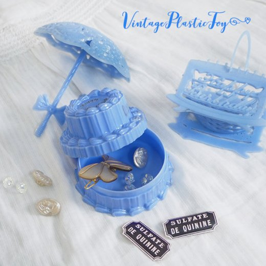 USA 1950年代 イースター BABY 小物入れ3点セット 【ブルー F-type】【画像3】