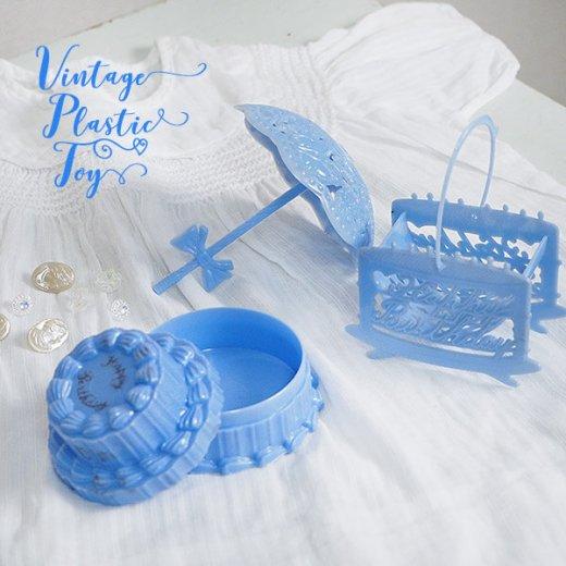 USA 1950年代 イースター BABY 小物入れ3点セット 【ブルー F-type】【画像6】