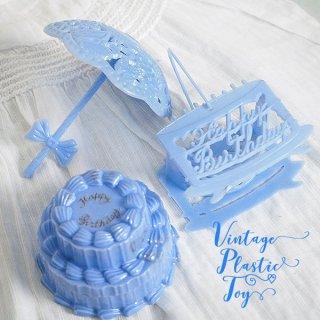 イースター 復活祭 雑貨 USA 1950年代 イースター BABY 小物入れ3点セット 【ブルー F-type】