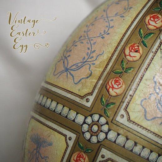 USA アンティーク イースターエッグ TINボックス 復活祭【Classic Rose】【画像7】