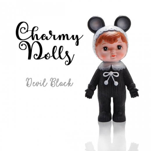 Charmy チャーミードール ソフビ人形【Devil Black】