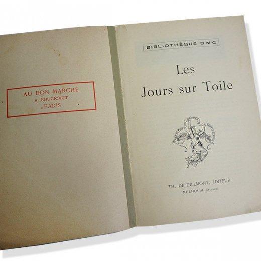 フランス 1930年 D.M.C. 刺繍図案 ドロンワークアンティーク本 LES JOURS SUR TOILE【画像2】