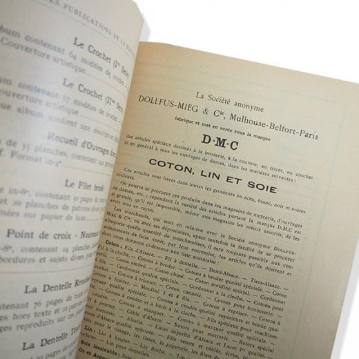 フランス 1930年 D.M.C. 刺繍図案 ドロンワークアンティーク本 LES JOURS SUR TOILE【画像3】
