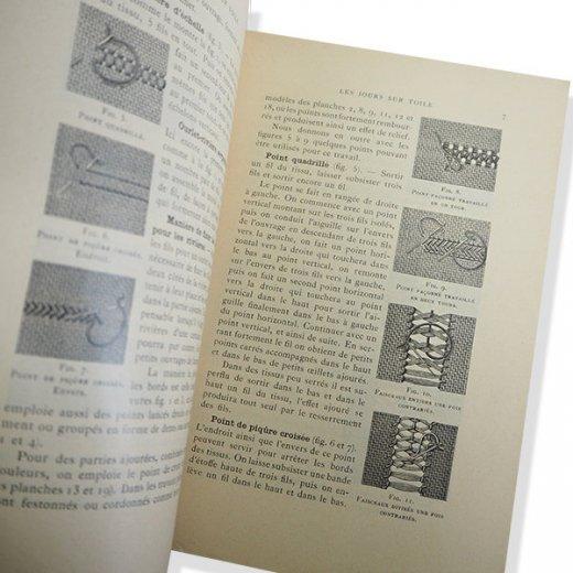フランス 1930年 D.M.C. 刺繍図案 ドロンワークアンティーク本 LES JOURS SUR TOILE【画像4】