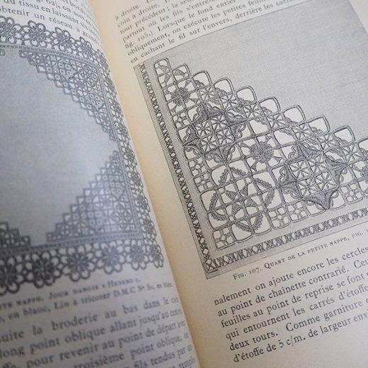 フランス 1930年 D.M.C. 刺繍図案 ドロンワークアンティーク本 LES JOURS SUR TOILE【画像5】