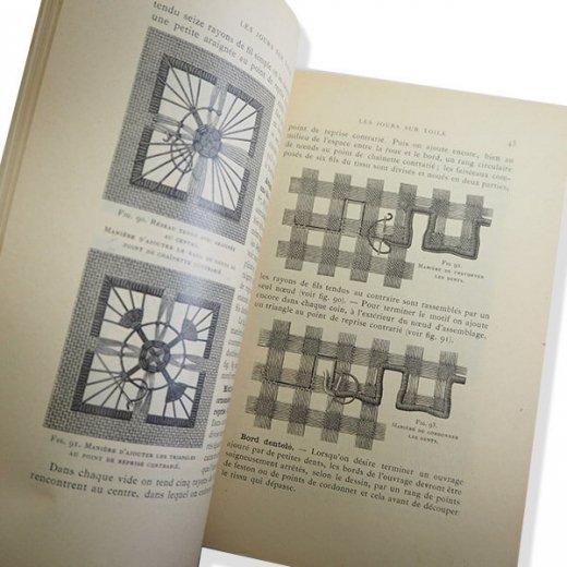 フランス 1930年 D.M.C. 刺繍図案 ドロンワークアンティーク本 LES JOURS SUR TOILE【画像6】