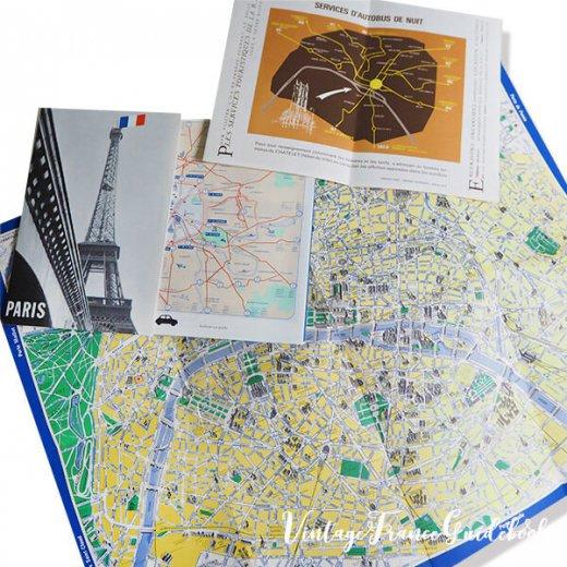 フランス蚤の市より ヴィンテージガイドブック5冊セット 【パリの地図】【画像5】