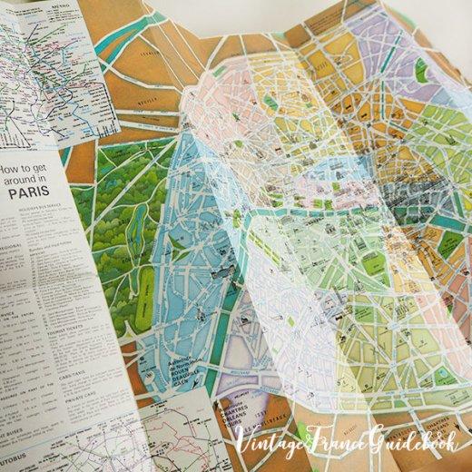 フランス蚤の市より ヴィンテージガイドブック5冊セット 【パリの地図】【画像7】