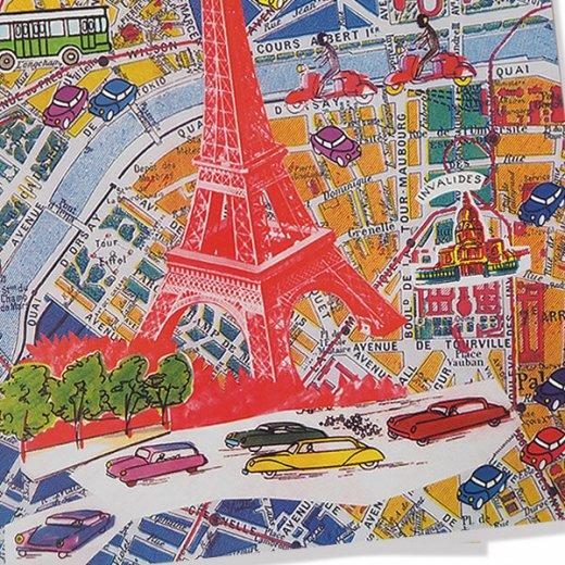 フランス ポストカード(エッフェル塔とパリの地図)【画像3】