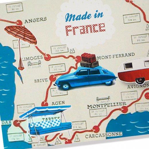 フランス ポストカード(ビーチ シトロエンDS キャンピングカー)【画像2】