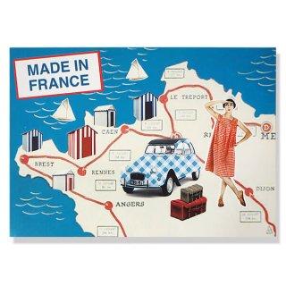 フランス ポストカード(ビーチ シトロエン 2CV)