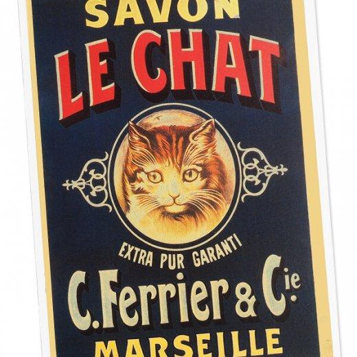 フランス ポストカード 猫 キャット (SAVON LE CHAT)【画像2】