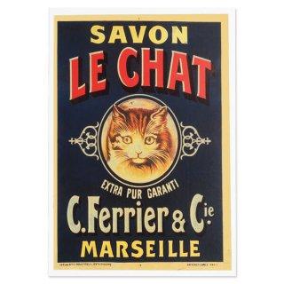 フランス ポストカード 猫 キャット (SAVON LE CHAT)