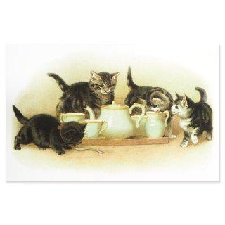 動物 アニマル柄 フランス ポストカード 猫 キャット (lait)