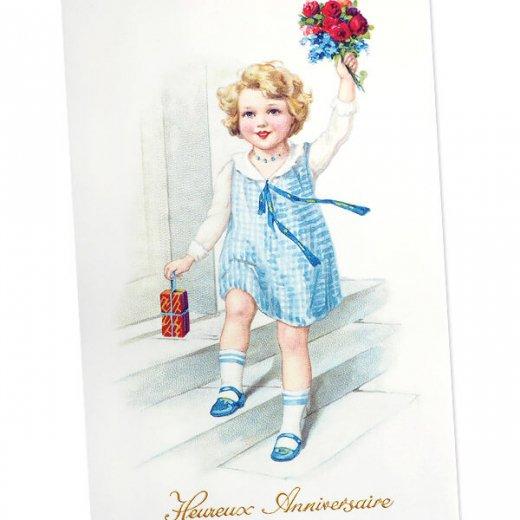 フランス ポストカード (Heureux anniversaire A)【画像2】