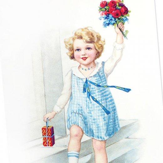 フランス ポストカード (Heureux anniversaire A)【画像3】