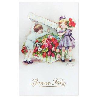 フランス ポストカード  (Bonne fete D)