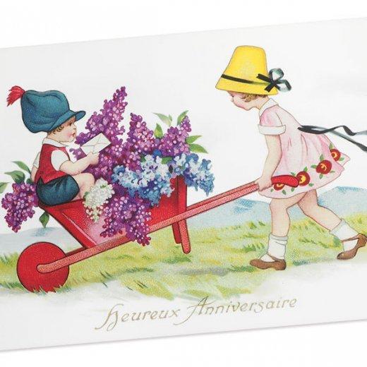 フランス ポストカード  (Heureux anniversaire B)【画像2】