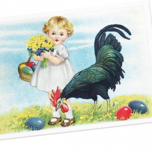 フランス イースター 復活祭 ポストカード (Paques Q)【画像2】