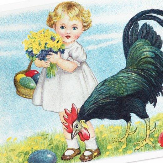フランス イースター 復活祭 ポストカード (Paques Q)【画像3】
