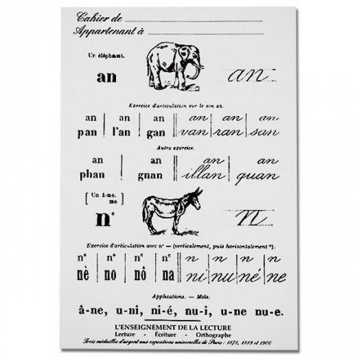 フランス製 アンティークリプロダクト学習ノート 動物【Cahier d'exercices】