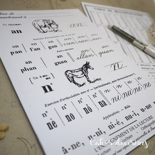 フランス製 アンティークリプロダクト学習ノート 動物【Cahier d'exercices】【画像5】