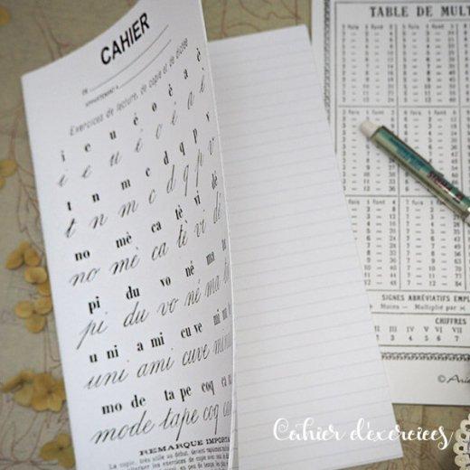 フランス製 アンティークリプロダクト学習ノート 文字【Cahier d'exercices】【画像5】