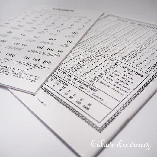 フランス製 アンティークリプロダクト学習ノート 文字【Cahier d'exercices】【画像6】