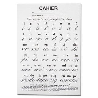 フランス製 アンティークリプロダクト学習ノート 文字【Cahier d'exercices】