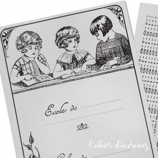 フランス製 アンティークリプロダクト学習ノート 女の子【Cahier d'exercices】【画像3】