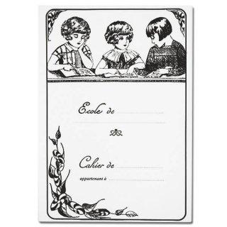 ステーショナリー フランス製 アンティークリプロダクト学習ノート 女の子【Cahier d'exercices】