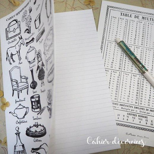 フランス製 アンティークリプロダクト学習ノート モチーフ【Cahier d'exercices】【画像5】