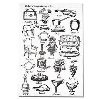 ステーショナリー フランス製 アンティークリプロダクト学習ノート モチーフ【Cahier d'exercices】