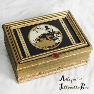 インテリア 小物 【送料無料】USA 1920年代 シャビー アール・デコ シルエットウッドボックス