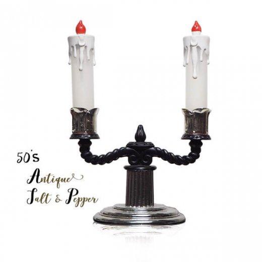 USA 1950年代 レア ソルトアンドペッパー【ミッドセンチュリー 燭台タイプ】