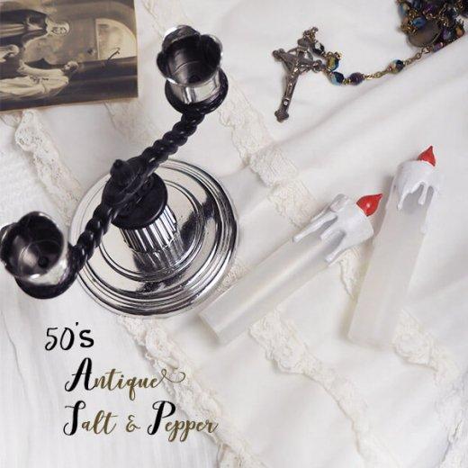 USA 1950年代 レア ソルトアンドペッパー【ミッドセンチュリー 燭台タイプ】【画像5】