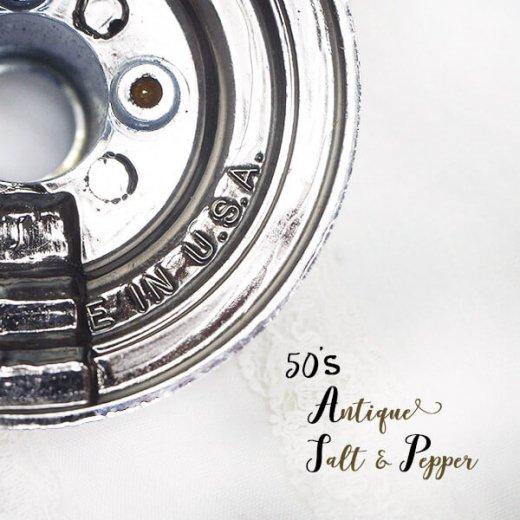 USA 1950年代 レア ソルトアンドペッパー【ミッドセンチュリー 燭台タイプ】【画像6】