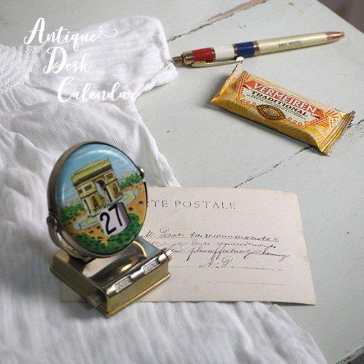 フランス蚤の市より アンティーク 回転式 卓上カレンダー(エッフェル塔 凱旋門) 【画像5】