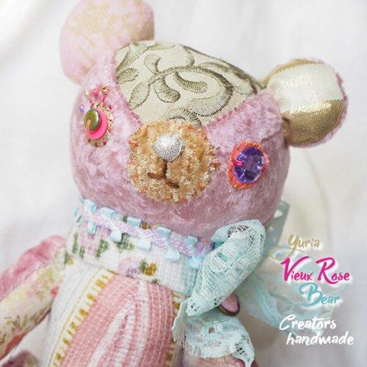 ベア ハンドメイド ぬいぐるみ【ビューローズ  vieux rose 】〜 yuria手芸店【画像2】