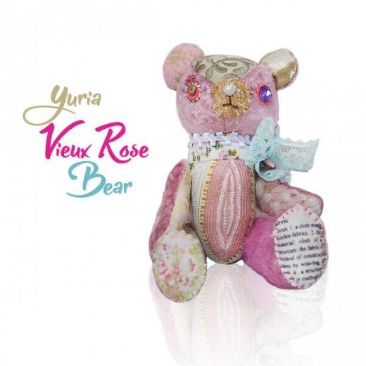 ベア ハンドメイド ぬいぐるみ【ビューローズ  vieux rose 】〜 yuria手芸店【画像3】