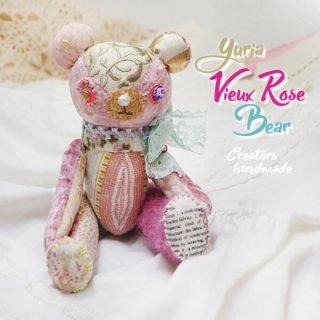 ベア ハンドメイド ぬいぐるみ【ビューローズ  vieux rose 】〜 yuria手芸店