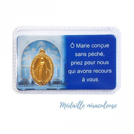 フランス直輸入! 奇跡のメダイ教会発行 不思議のメダイゴールドチャーム入りカード