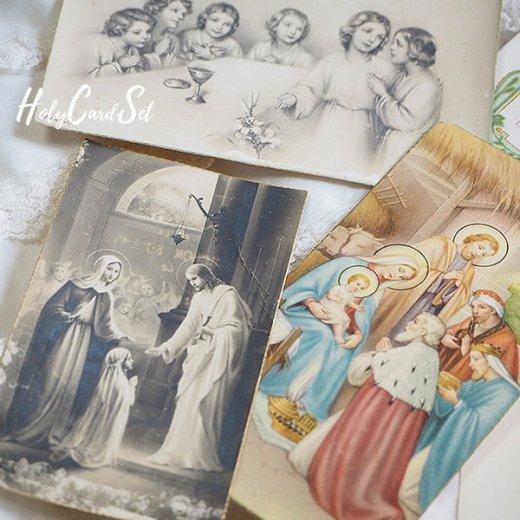 フランス蚤の市より 1930年代 アンティーク 教会 ホーリーカード 【6枚セット】【画像4】